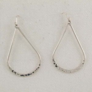 Hammered Drop-Shaped Earrings