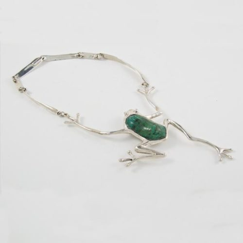 Frog Stone Necklace
