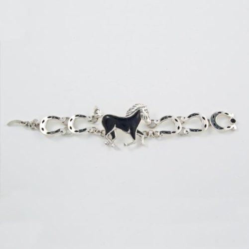 Black Stoned Horse Bracelet