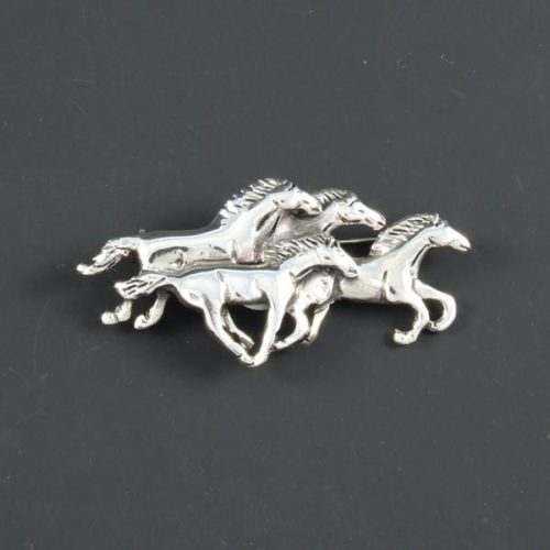 Horses Plain Brooch