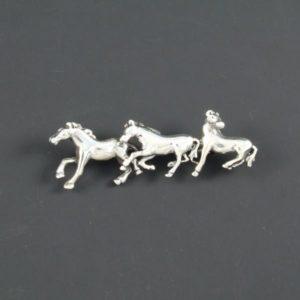 3 Horses Brooch