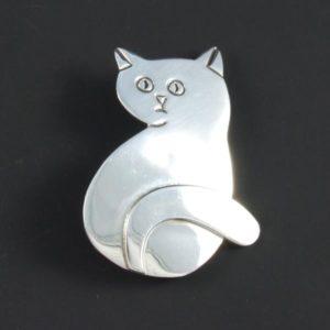 Cat Plain Brooch
