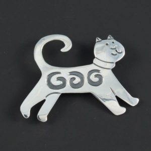 Cat Plain Brooch
