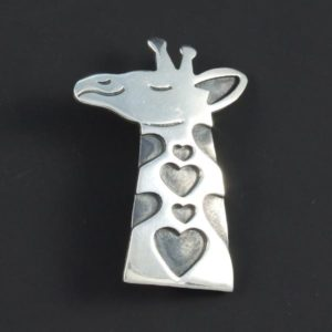 Giraffe Plain Brooch