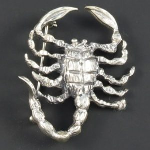 Scorpion Plain Brooch