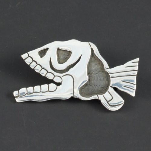 Piranha Plain Brooch
