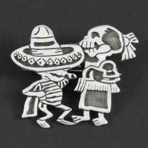 Skeletons Plain Brooch