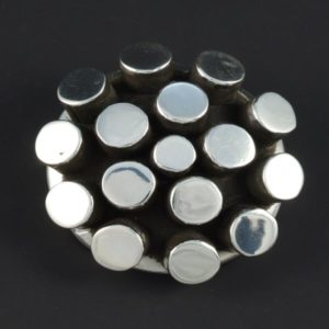 Silver Plain Brooch