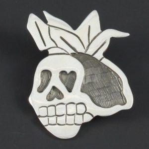 Skull Plain Brooch