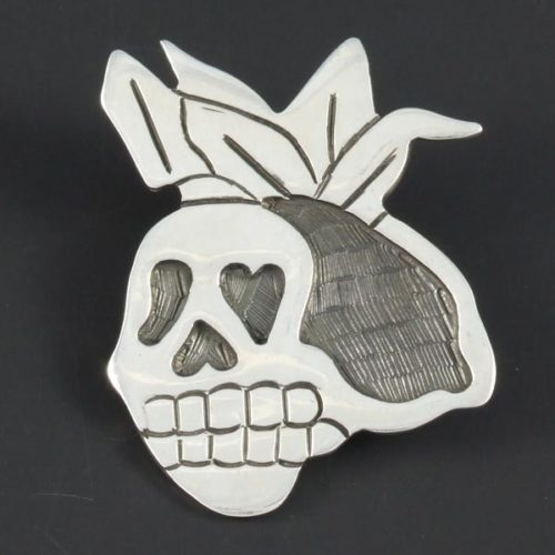 Skull Plain Brooch