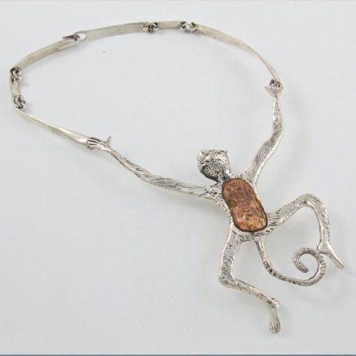 Monkey Stone Necklace
