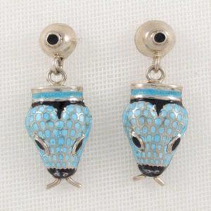 Turquoise Snake Earrings