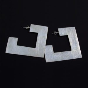 Square Brushed Earrings