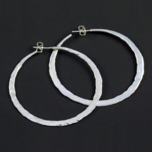 Hammered Silver Rings