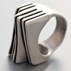Art Deco Ring Mexica Sterling Silver