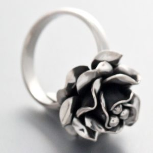 Small Rose Ring Mexican Sterling Silver