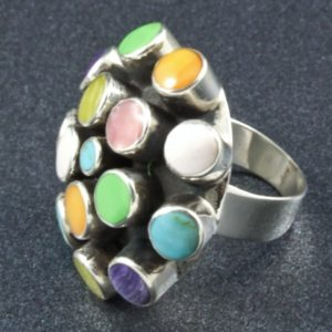 Multi colored Stone Ring