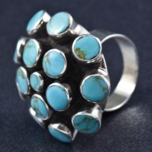 Round Turquoise Stone Ring