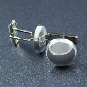 Circular Silver Cufflinks