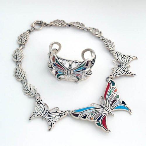 Silver Stoned Butterflies
