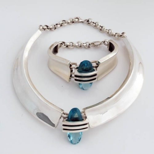 Silver Stoned Set
