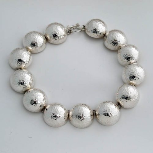 Hammered Semi-Spheres Necklace