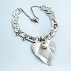Brushed Silver Heart