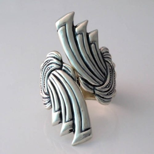 Silver Laced Bracelet