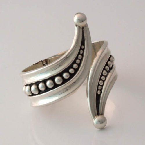 Silver Marbled Bracelet