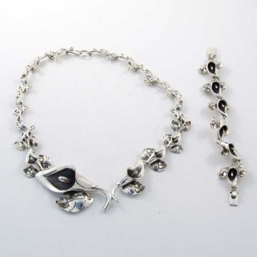 Calla Lily Set Mexican Sterling Silver