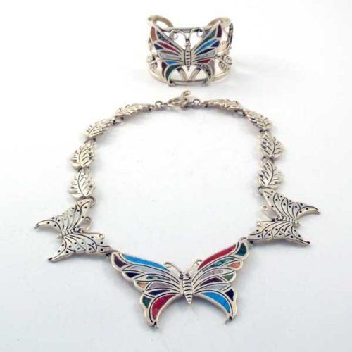 Silver and Stone Butterfly set