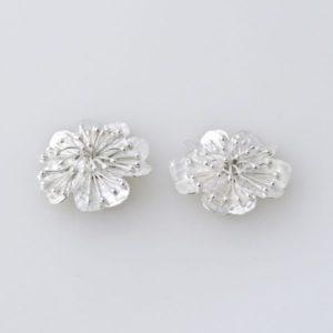 Flower Clip On Earring