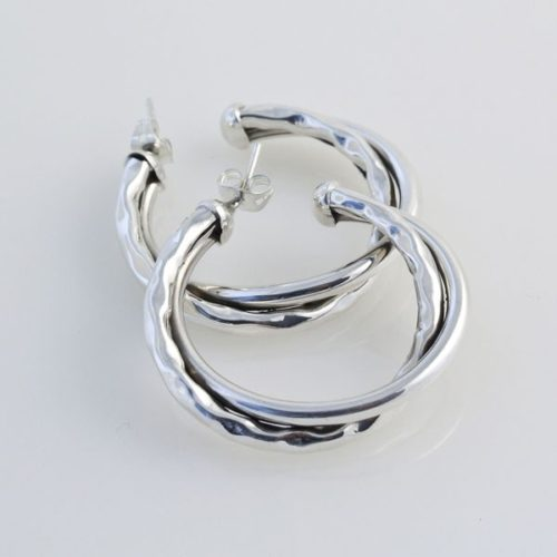 Hoops Hammered/Plain Hollow