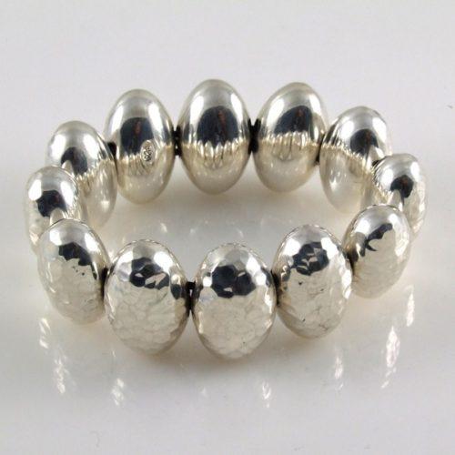 Hammered Ovals Bracelet
