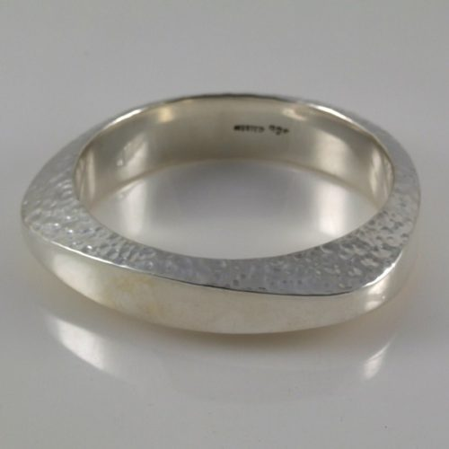 Hammered & Plain Bracelet