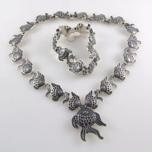 Plain & Oxidized Bracelet & Necklace