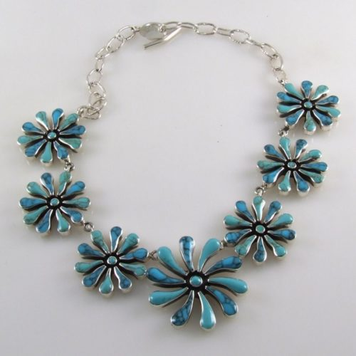 Turquoise Flowers Necklace