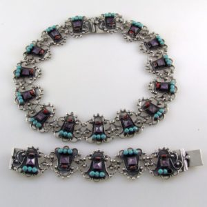 Amethyst, Coral & Turquoise Set