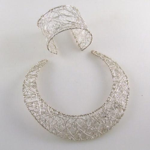 Woven basket Necklace & Bracelet