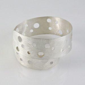 Spiral Brushed Cutout Bracelet