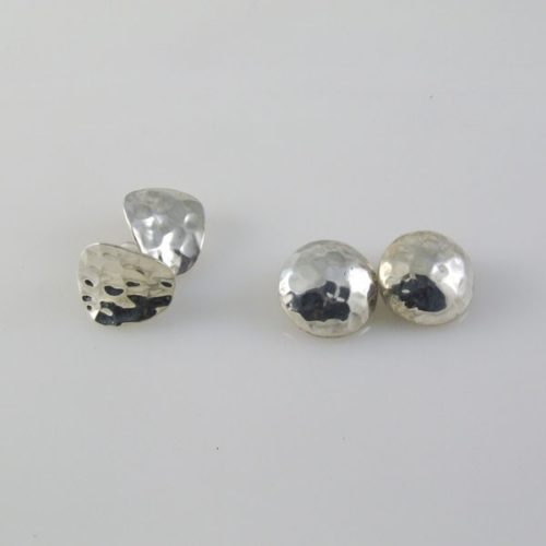 Hammered Clip-ons Earrings