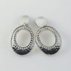 Oval Clip-ons Earrings