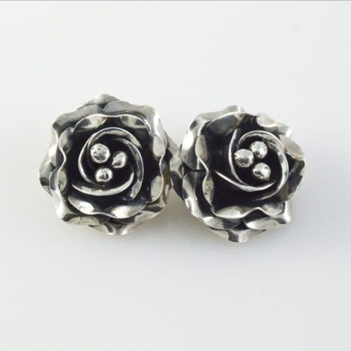 Roses Clip-ons Plain Earrings