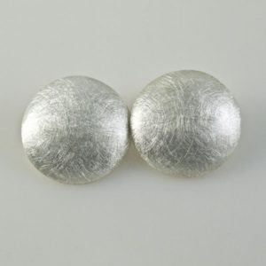 Circles Brushed Clip-ons Earrings