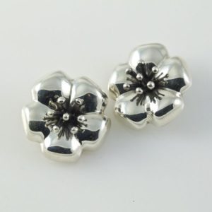 Flower Plain Clip-ons Earrings