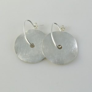 Post Earrings Brushed Circular