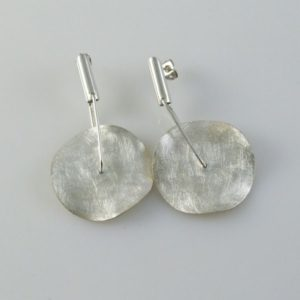 Post Earrings Brushed Circular Small