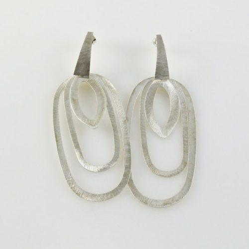 Brushed Flat Post Earrings