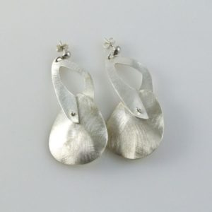 Post Brushed Oval Earrings