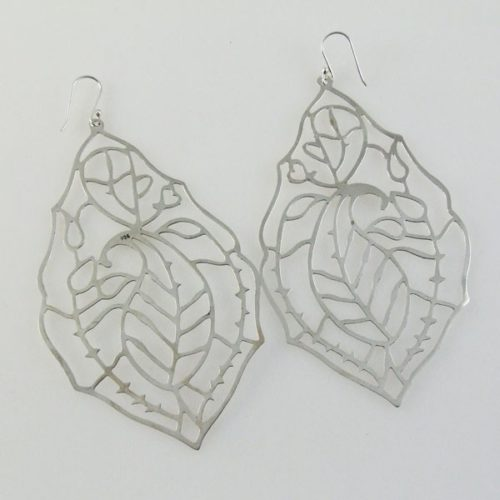 Post Cutout Leaf Earrings